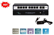Switch PoE 8 cổng Hikvision SH-1008P-2G
