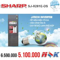 Tủ lạnh Sharp SJ-X281E-DS J-tech inverter 271 lít