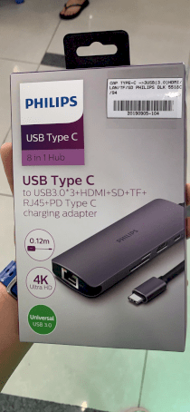 Cable Type-C->3USB(3.0)HDMI/LAN/TF/SD Philips (DLK 5518C/94)
