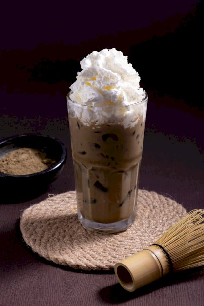 Houji latte whipping cream